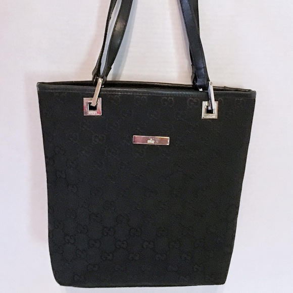 87e3805aad Gucci Bags | Auth Black Monogram Jacquard Tote Handbag | Poshmark
